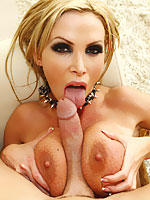 Nikki Benz gets fucked by his massive white cock